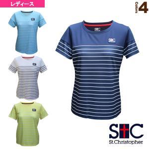 セントクリストファー テニス・バドミントン ウェア(レディース)  マリンボーダーゲームシャツ/レディース(STC-BAW2221)|racket