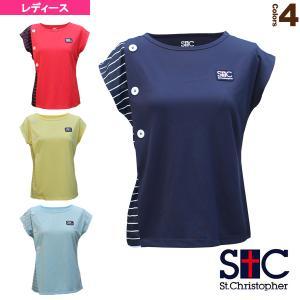 セントクリストファー テニス・バドミントンウェア(レディース)  マリンボタンゲームシャツ/レディース(STC-BAW2223)|racket