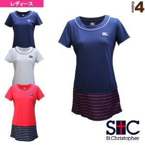 セントクリストファー テニス・バドミントンウェア(レディース)  マリンボーダーチュニック/レディース(STC-BAW2227)|racket