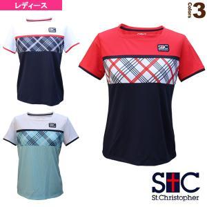 セントクリストファー テニス・バドミントン ウェア(レディース)  カームチェックスクエアネックゲームシャツ/レディース(STC-BAW2235)|racket