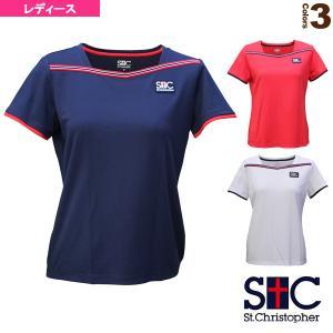 セントクリストファー テニス・バドミントン ウェア(レディース)  ラインドゲームシャツ/レディース(STC-BAW2241)|racket