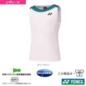 ヨネックス テニス・バドミントン ウェア(レディース)  75THゲームシャツ/ノースリーブ/スリムタイプ/レディース(20630A) racket