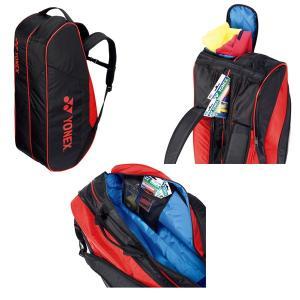 ヨネックス テニスバッグ  ラケットバッグ6/リュック付/テニス6本用(BAG1812R) racket 03