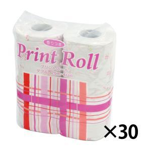香りつきプリントロール ダブル トイレットペーパー 入数30 1個当り157.3円税込|racooldepo