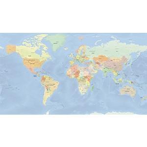 「商品情報」  大型サイズ  オフィスや会議室、書斎にふさわし世界地図のポスター  英語表記  大西...