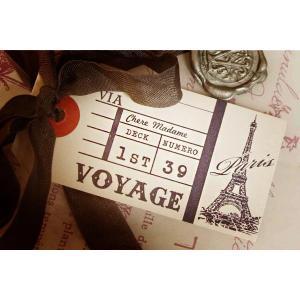 パリのエッフェル塔をモチーフにしたラッピングタグ。 ギフトバッグや箱のワンポイントに使えます。  品...