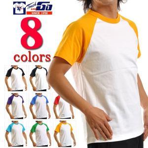 Tシャツ 無地 タッチアンドゴーTouch and GO/6.2oz ラグラン半袖無地Tシャツ/メンズ|radio-flyer