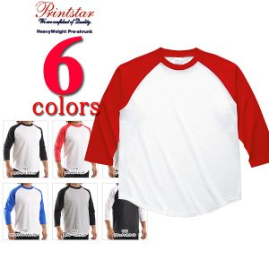 ロンT 無地 プリントスター Printstar/5.6ozラグランベースボール(七分袖)無地Tシャツ|radio-flyer