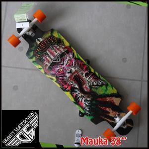 """GRAVITY グラビティ スケートボード MAUKA 38"""" ロンスケ  スペック&スラスターの説..."""