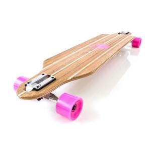 WHITE WAVE ロング スケートボード ROXY 39インチ ホワイト ウェーブ ロンスケ コ...