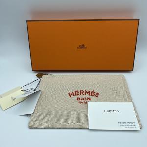 【HERMES】エルメス ニューヨッティングPM ポーチ タグ付き raftelshop
