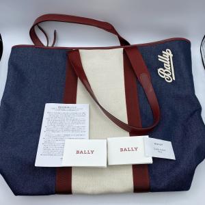 【BALLY】バリー キャンバストート トートバッグ ネイビー×レッド|raftelshop