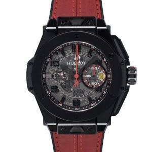 【HUBLOT】ビッグバン フェラーリ オールブラック 401.CX.0123.VR  セラミック スケルトン文字盤 自動巻 世界限定1,000本 ウブロ メンズ ウォッチ raftelshop