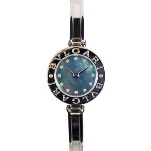 【BVLGARI】Bzero1 ブルガリ シェル・ダイヤ12P BZ22S   ステンレス 美品 腕時計 レディース raftelshop