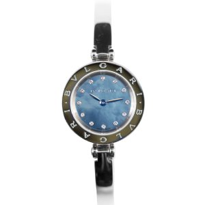 【BVLGARI】Bzero1 ビーゼロワン ブルガリ シェル・ダイヤ12P BZ23S   ステンレス 美品 腕時計 レディース raftelshop
