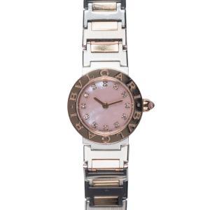 【BVLGARI】ブルガリ  BBL23C2SPG ブルガリブルガリ ピンクシェル文字盤 日本限定 12Pダイヤ 美品 腕時計 レディース raftelshop