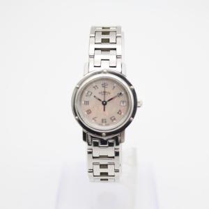 【HERMES】エルメス CL4.210 クリッパー ホワイト/ピンクシェル レディース腕時計 raftelshop