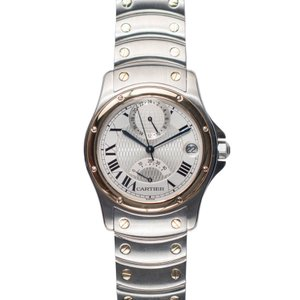 【CARTIER】カルティエ W20038R3 サントスロンドGMT パワーリザーブ 150周年記念モデル 腕時計 メンズ raftelshop