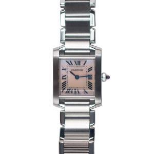 【CARTIER】 カルティエ  W51028Q3 タンク フランセーズSM クォーツ レディース時計 raftelshop