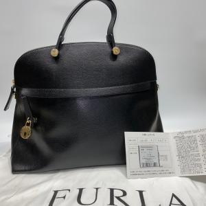 【FURLA】フルラ パイパー ハンドバッグ トートバッグ レザー ブラック raftelshop