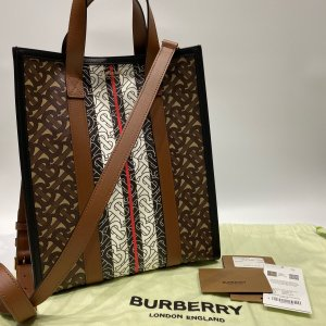 【BURBERRY】バーバリー モノグラムEキャンバス PVC 2WAYバッグ|raftelshop