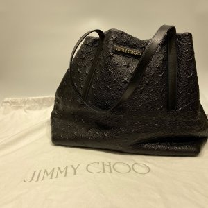 【Jimmy Choo】ジミーチュウ スターエンボス レザー トートバッグ ブラック  raftelshop