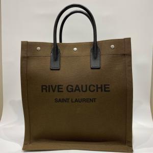 【SAINT LAURENT】サンローラン リブゴーシュ キャンパス トートバッグ カーキ|raftelshop