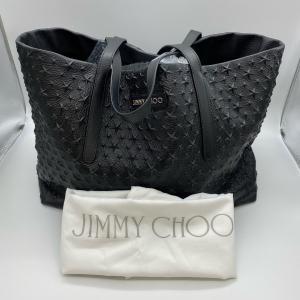 【Jimmy Choo】ジミーチュウ レザー スタースタッズ ブラック トートバッグ (大) raftelshop