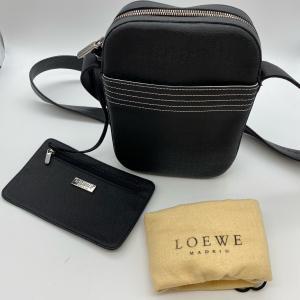 【LOEWE】ロエベ ショルダーバッグ スクエア ポーチ付き ブラック|raftelshop