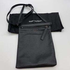 【SAINT LAURENT】サンローラン レザー ショルダバッグ ポシェット ブラック 581697|raftelshop