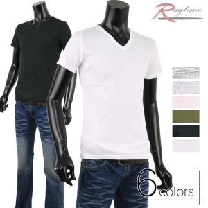半袖 カットソー メンズ Tシャツ リブ生地 シンプル 杢 MIX インナー トップス A280307-02 rag001