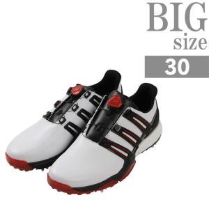 大きいサイズ ゴルフシューズ スポーツシューズ メンズ 靴 合成皮革 合皮 高反発 adidas C...