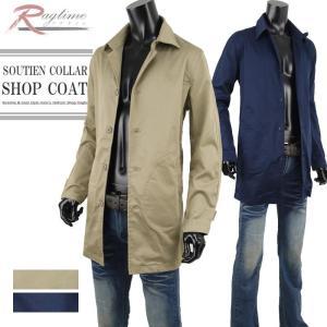 ハーフコート メンズ 薄手 ステンカラーコート ショップコート スプリングコート G290904-15 rag001