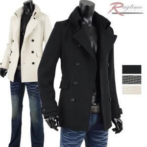 Pコート ピーコート メンズ ウール Pジャケット 冬アウター メンズファッション V280914-05