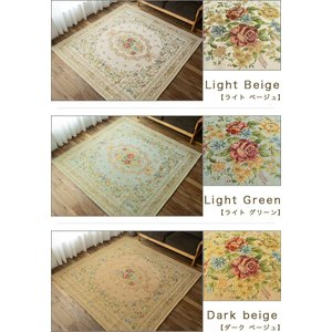 ラグマット ゴブラン織り ラグ カーペット 約 2畳 用 200×200 絨毯  ピンク グリーン じゅうたん 送料無料|ragmatst|07
