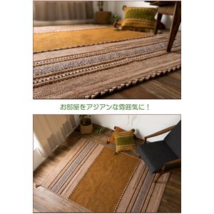 キリム ラグマット 洗える ラグ 3畳 大 オルテガ 200x250 カーぺット 綿 5色|ragmatst|09