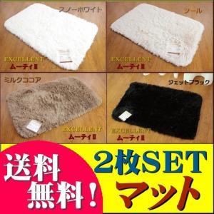 玄関マット 洗える シャギー ラグマット 2枚セット 45x75cm おしゃれ 北欧|ragmatst