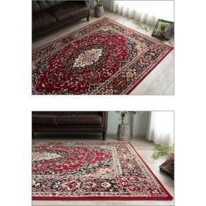 これは必見! 絨毯 じゅうたん 235×320 約 6畳 用 レッド 赤 ラグマット ペルシャ絨毯 柄 ベルギー絨毯|ragmatst|03