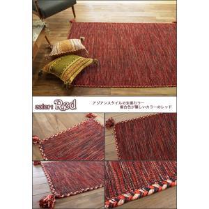 キリム ラグ 90x130 ラグマット おしゃれ 綿 手織りインド キリム カーペット 絨毯 エスニック 柄 ネイティブ オルテガ kilim|ragmatst|02