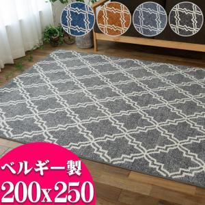 ラグ 3畳 大用 おしゃれ じゅうたん 絨毯 ウィルトン織り北欧  200x250 ベルギー製 送料...