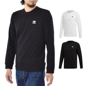 アディダス オリジナルス adidas originals Tシャツ ワッペン ロングスリーブ ティーシャツ 長袖Tシャツ ロンT メンズ ブランド 黒 白 AC WAPPEN LS TEE DX4210|raiders
