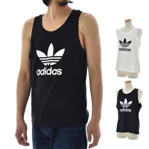 アディダス オリジナルス adidas originals タンクトップ メンズ ランニングシャツ ノースリーブ トレフォイル ロゴ ブランド 黒 白 TREFOIL TANK DV1508 DV1509|raiders
