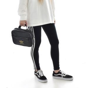 アディダス オリジナルス adidas originals バッグ リュック ミニ エアライン バックパック リュックサック ショルダーバッグ レディース ブランド 黒 金 FL9626|raiders|02