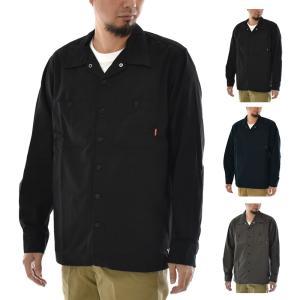 ブルコ BLUCO シャツ ワークシャツ スタンダードワークシャツ 長袖 ボタンシャツ バイカーシャツ 黒 STANDARD WORK SHIRTS L/S OL-109-021 raiders