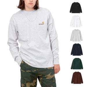 カーハート WIP Carhartt WIP ロングスリーブアメリカンスクリプトTシャツ メンズ レディース 黒 I029955-21f【サステナブル素材】【オーガニックコットン】 raiders