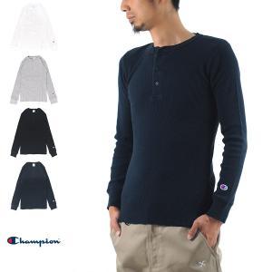チャンピオン Champion Tシャツ サーマル ヘンリーネック ロングスリーブTシャツ C3-E431 長袖Tシャツ BASICシリーズ