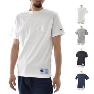 チャンピオン Champion Tシャツ 同色 ビッグC刺繍 半袖Tシャツ アクションスタイル TEE ホワイト ブラック グレー ネイビー メンズ シンプル C3-M358|raiders