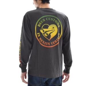 デウス エクス マキナ Deus ex Machina Tシャツ SOUL JAH LS TEE ソウル ジャー ロングスリーブ ロンT デウスエクスマキナ 黒 ブラック S M L DMS71972 メンズ|raiders