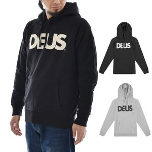 Deus ex Machina デウス エクス マキナ パーカー ロゴ オール キャプス フーディ スウェット プルオーバー メンズ ブランド グレー 黒 ALL CAPS HOODY DMF88526 raiders