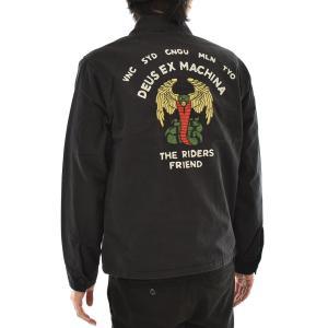 デウス エクスマキナ DEUS EX MACHINA ジャケット スーベニアジャケット スウィングトップ バックプリント 刺繍 メンズ 黒 M L SOUVENIR JACKET DMF2061331|raiders